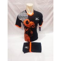 Baju olahraga Mizuno Tribal Api Jersey Bola baju volly futsal Terlaris