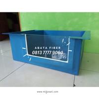 Bak Fiber Kombinasi Filter Samping 2 kotak + Kaca UK. 70 x 45 x 30 cm