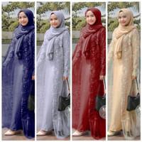(RealVideo) Gamis Brukat Syari // Baju Wanita Muslimah Modern // Busui