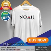 Kaos Tshirt Cowok Pria Dewasa Distro Terbaru Premium Katun Band Noah - Putih, M
