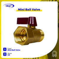 Mini Ball Valve Kuningan 1/2