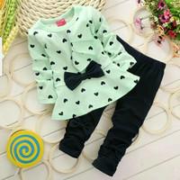 Lopkid Baju Pakaian Setelan stelan Anak Perempuan import terbaru murah