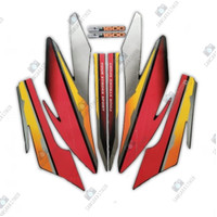 Stiker Striping Motor Honda GL Pro 1997 Merah-Orange