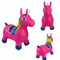 Mainan kuda-kudaan unicorn anak, Mainan loncat kuda karet anak