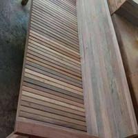 bale bale daybed lincak kursi santai kursi taman kayu bengkirai