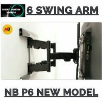 North Bayou NB P6 Bracket TV 50 55 60 65 70 75 Inch Full Motion 6 Arms
