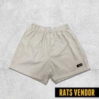 Boxer Celana Motif Salur Rats Vendor Bahan Adem