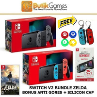 Nintendo Switch Console New Model V2 Bundle Game
