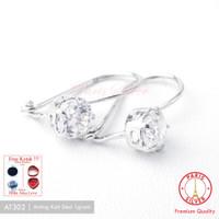 Anting Desi Silver / Perak 925 lapis emas putih AT106[Ear Ring]