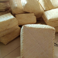 besek bambu bleaching natural putih 20x20 sepasang