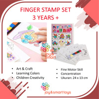 FINGER STAMP SET | ART AND CRAFT | PAINTING | MAINAN EDUKASI