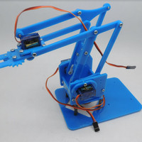 Robot arm acrylic Diy arm acrylic kit rangka lengan for arduino 4 dof