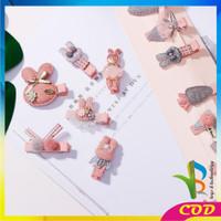 RB-C14 6PCS Jepit Rambut Model Pita Kartun Aksesoris Rambut untuk Bayi