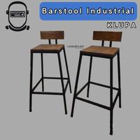 Barstool Industrial , Kursi Besi Kayu Minimalis , Bangku Cafe Resto