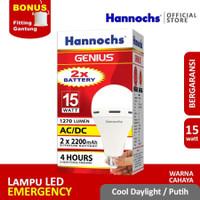 Hannochs - Lampu Emergency LED AC/DC GENIUS - 15 watt - cahaya Putih