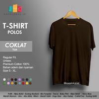 Kaos Polos Baju Pria Kaos Pria Premium Lengan pendek COKLAT TUA