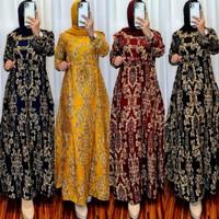 Baju Muslim Wanita Gamis Rayon Motif Sultan Terbaru Bisa COD
