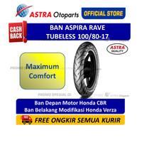 Ban Aspira Maxio Rave 100/80-17 Tubeless Ban Motor (16-100/8017-RAVE)