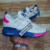 Sepatu Adidas ZX 2K Boost White Pink Blue