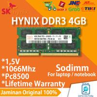 RAM LAPTOP HYNIX DDR3 4GB 1066Mhz / PC8500 DDR 3 SODIMM MEMORY 1.5V