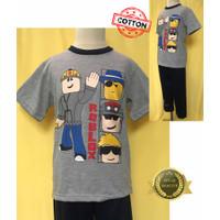 Baju Tidur Stelan Kaos Anak Cowok Roblox 2DP