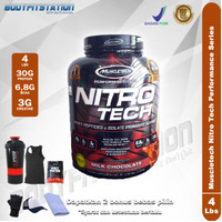 MuscleTech Nitro Tech 4 Lbs / 4lb 4lbs iso isolate lb nitrotech whey