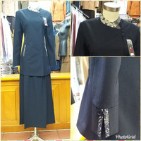 blazer kerja wanita Dongker seragam guru baju dinas pns baju kantor