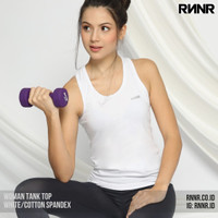 Baju Senam / Baju Yoga / Olahraga Wanita kaos Tank Top spandex putih