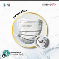 Ms Glow - 1 Pcs Masker Kosme Mask Pattern Nano Silver Masker Kesehatan