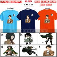 Kaos Anak Attack on Titan Levi/Baju Mikasa AOT Scout Legion Anak