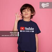 Kaos Anak Youtube - Baju Anak Youtube - Nama Channel Youtube Bebas