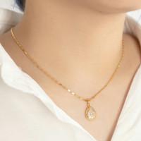 Kalung dan gelang lapis emas nagita bandul