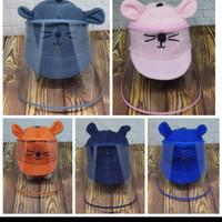 Topi Anti Corona Bayi / Pelindung wajah bayi / face shield bayi - Biru