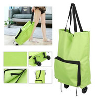 Tas Belanja Lipat Roda Troli Shopping Bag Trolley Cart Serbaguna