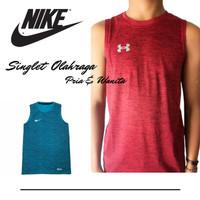 Baju Singlet Gym Baju Olahraga Pria Kaos Running/Training/Fitnes