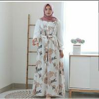 gamis wanita dress muslim wanita baju/ gamis premium - Putih