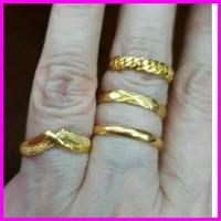 Cincin polos kuning ring 24k 24 karat emas asli 99% 3gram 3 gram
