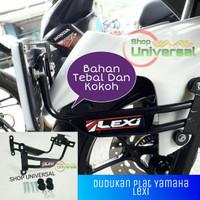 Dudukan Plat nomor Yamaha lexi bahan kokoh Aksesoris Motor-A03