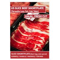 READY STOCK Daging Sapi US Slice Beef Shortplate Yoshinoya Shabu Murah