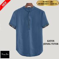 Baju Koko Pria Terbaru Koko Muslim LIS BRBRY CASUAL size JUMBO XXXL