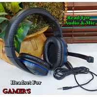 Gaming Headset For PC Laptop Mobile Phone With Aux 3,5 Audio & Mic