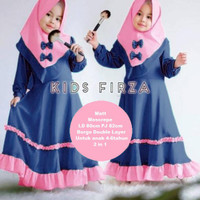 Gamis Anak Perempuan Firza Kids - Navy, XL