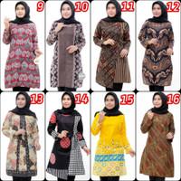 PROMO Atasan Tunik Batik Dress Wanita Kekinian XXXL Jumbo