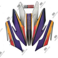 Stiker Striping Motor Honda GL Pro 1997 Orange-Ungu