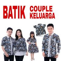Baju Batik Couple Keluarga Murah / Batik Couple Seragam Keluarga - Hem Anak, S