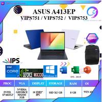 ASUS A413EP VIPS751 i7 1165G7 8GB 512ssd MX330 2GB W10+OHS 14 FHD IPS
