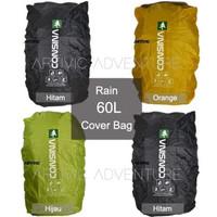 Rain Cover Bag Consina 60L Raincover Carrier Ransel Tas Gunung Keril