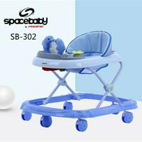 Space Baby Baby walker SB 302 - Biru Muda