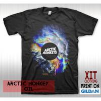 T-Shirt Kaos Distro Musik DTG Band ARCTIC MONKEY oil