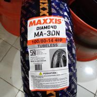 BAN MOTOR MATIC MAXXIS DIAMOND MA-3DN UKURAN 100/80-14 TUBELES